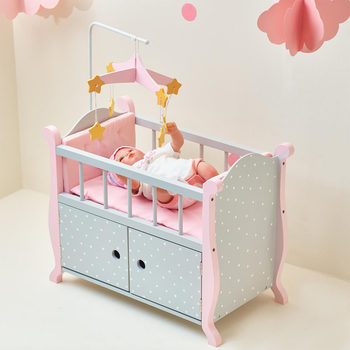 "Olivia's Little World 18"" (45.7cm) Doll Nursery Bed with Cabinet (3+ Years)"
