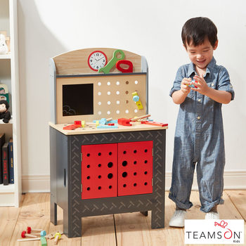 Teamson Kids Little Engineers Foldable Work Bench (3+ Years)