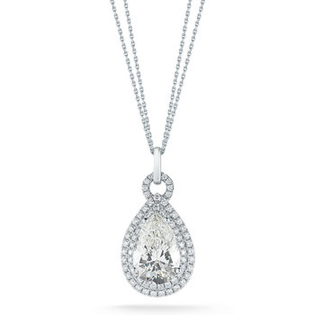 5.22ctw Pear Shape VS1 Clarity, I Colour Diamond Pendant, Platinum