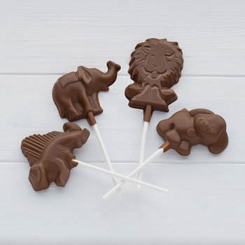 Cocoba Belgian Milk Chocolate Animal Lollipops, 15 x 20g