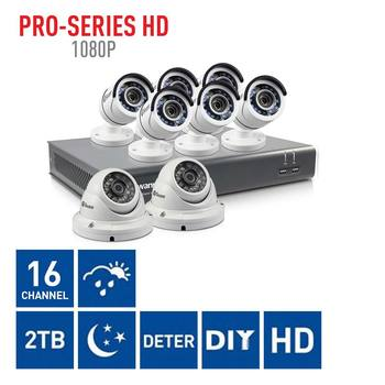 Swann DVR16-4575 16 Channel Digital Video Recorder with 6 x PRO-T852 Bullet Cameras & 2 x PRO-T854 Dome Cameras
