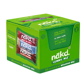 Nakd Raw Fruit & Nut Bars Variety Pack, 24 x 35g