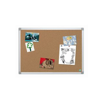 Bi-Office (900x600mm) Earth-It Aluminium Frame Cork Board