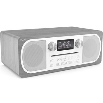 Pure Evoke C-D6 DAB+/FM Radio with CD player and Bluetooth in Grey Oak