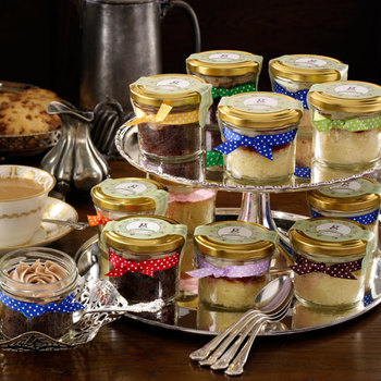 Fresh Cupcakes in Jars - Traditional Teatime Selection, 12 x 50g