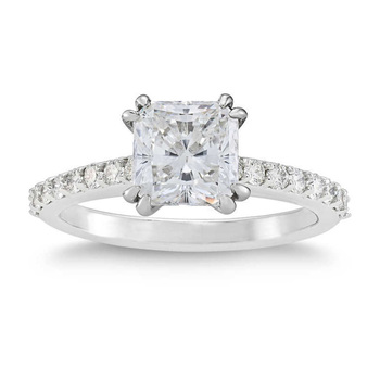 3.71ctw Radiant Cut Diamond Ring, Platinum