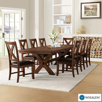Whalen Furniture Extending Dining Room Table 8 Chairs