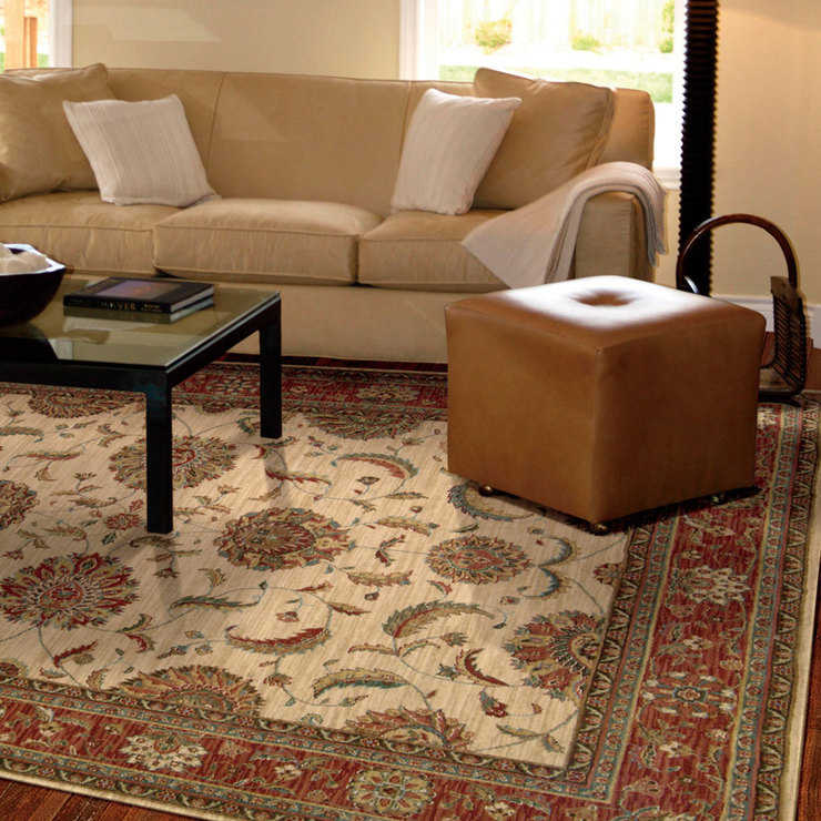 Traditional Rug In Ivory Rust