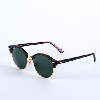 Ray-Ban Tortoise Shell Sunglasses with Green Lenses, RB4246 990