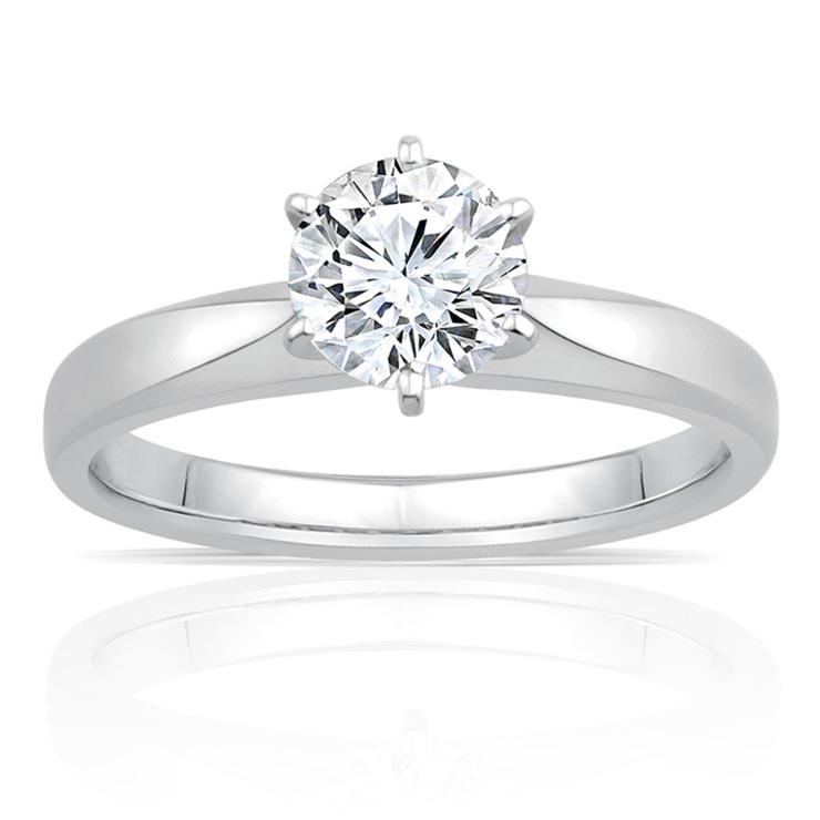 1.00ct Round Brilliant Cut Diamond Solitaire Ring 9baf1f838cd2