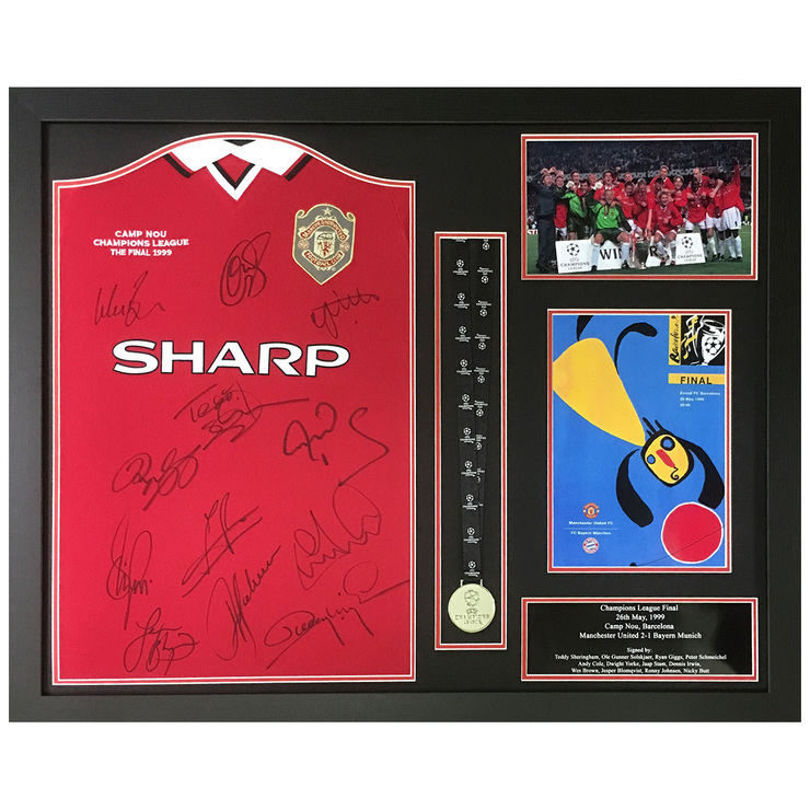 Manchester United Signed Framed 1999 Champions League Final Football ...
