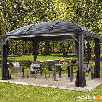 Sojag Moreno 10ft x 14ft (2.88 x 4.13m) Aluminium Frame Sun Shelter with Galvanised Steel Roof + Insect Netting