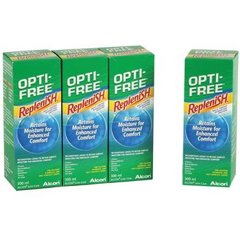 Opti-Free Replenish Multi-Purpose Disinfecting Solution, 4 x 300ml (6 Months Supply)