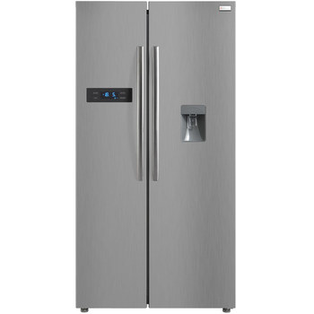 Russell Hobbs RH90FF176S-WD, A+ Rating, Side-by-Side Fridge Freezer, with Water Dispenser in Silver