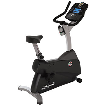 Installed Life Fitness C1 Upright Lifecycle Exercise Bike with Smart Console