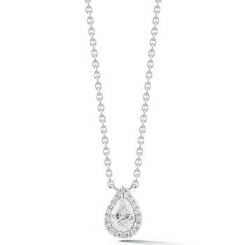 0.62ctw Pear Shape Diamond Pendant, 18ct White Gold