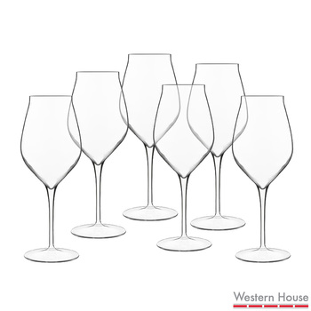Luigi Bormioli Vinea Crystal Glass 450ml White Wine Glasses, 6 Pack