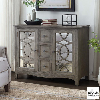 Bayside Furnishings Mirrored Accent Cabinet