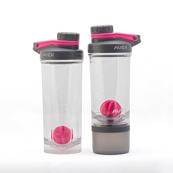 Avex Shake and Go Bottles, 2 Pack in 3 Colours