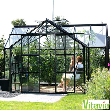 "Installed Vitavia Nevada 13000 12ft 6"" x 12ft 6"" (3.8 x 3.8 m) Greenhouse Package"
