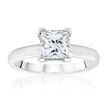 3.00ct Princess Cut Diamond Solitaire Ring, Platinum