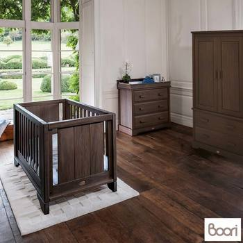 Boori Eton Expandable 4 Piece Nursery Room Set in Mocha