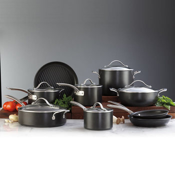 Kirkland Signature 15 Piece Hard Anodised Cookware Set