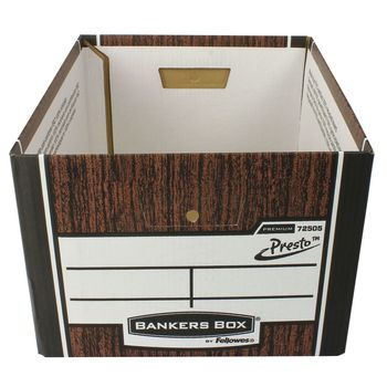 Fellowes R-Kive Premium Presto Classic Storage Boxes in Woodgrain - Pack of 10