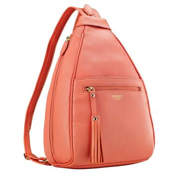 Osprey London Hampstead Leather Rucksack in Coral Pink