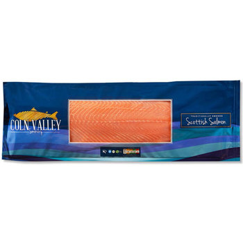 Coln Valley Unsliced Side Smoked Scottish Salmon, 1.1kg (Serves 10-20 people)