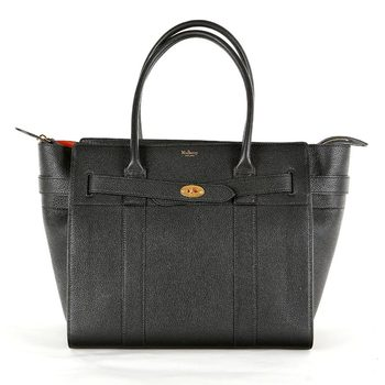Mulberry Small Black Classic Zipped Bayswater