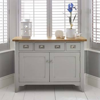 Bordeaux Painted Light Grey Wooden Sideboard
