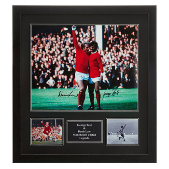 "George Best & Denis Law Signed Framed 20"" Photograph"