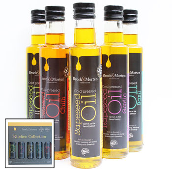 Brock & Morten Kitchen Collection Flavoured Rapeseed Oils Gift Pack, 5 x 250ml