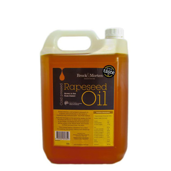Brock & Morten Cold Pressed Rapeseed Oil, 5L