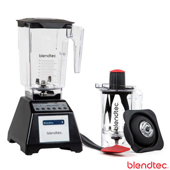 Blendtec Total Blender with Wildside+ Jar and Twister Jar in Black