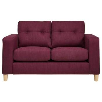 Metro 2 Seater Fabric Sofa, Purple