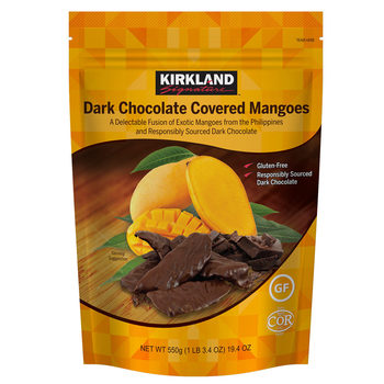 Kirkland Signature Dark Chocolate Covered Mangoes, 550g