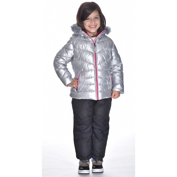 6906aeb6f 32° Degrees Weatherproof Girls 2 Piece Snow Suit in Silver, Size 2 years
