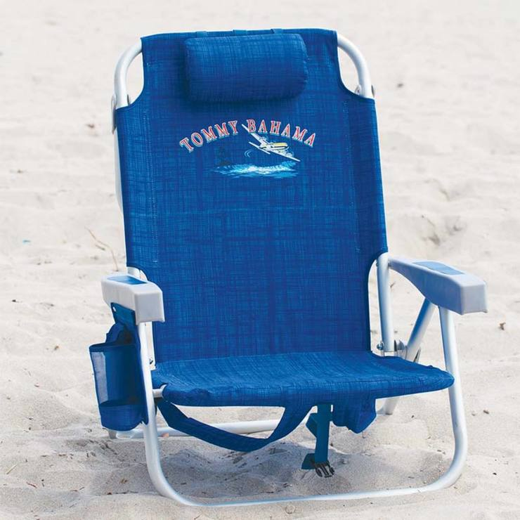 backpack folding chairs p flat beach head lay blue chair bahama rest tommy silver lawn w padded