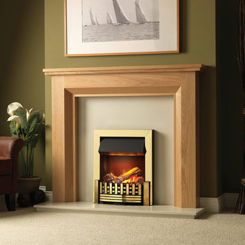 Dimplex Mansfield 2kW Brass Optimyst Electric Inset Fire