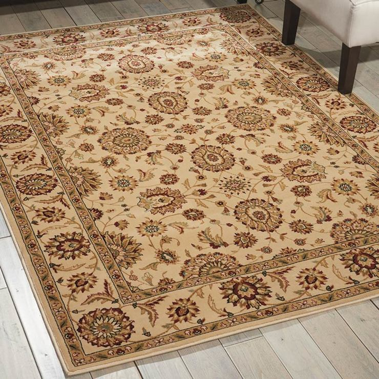 Persian Influenced Rug In Ivory