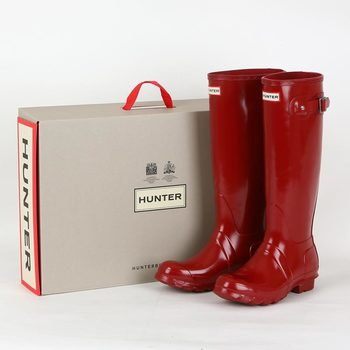 cb5482e2c Hunter Womens Original Tall Gloss Wellington Boots in 3 Sizes