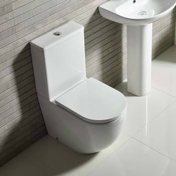 Tavistock Orbit Rimless Close Coupled Toilet with Soft Close Seat and Cistern - Model WCF250S