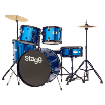Stagg 5 Piece Rock 22 Inch Drum Kit in 3 Colours