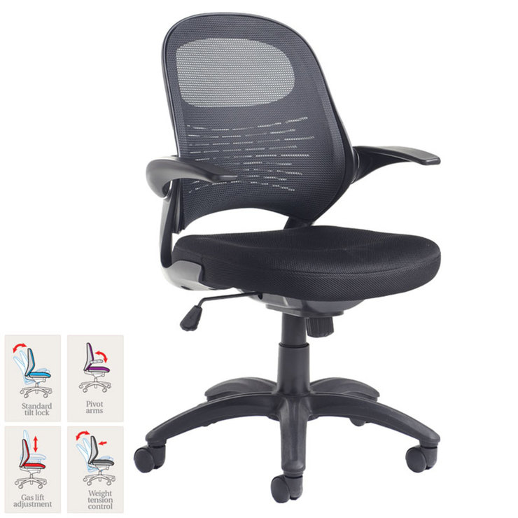 Orion Fabric Mesh Operator Chair Black  sc 1 st  Costco & Orion Fabric Mesh Operator Chair Black | Costco UK