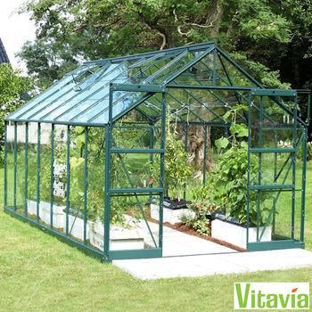 "Installed Vitavia Arizona 11500 8ft 5"" x 14ft 7"" (2.6 x 4.5m) Base Greenhouse Package"