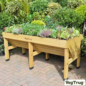 VegTrug Medium 1.8m Planter + Greenhouse Frame + Cover