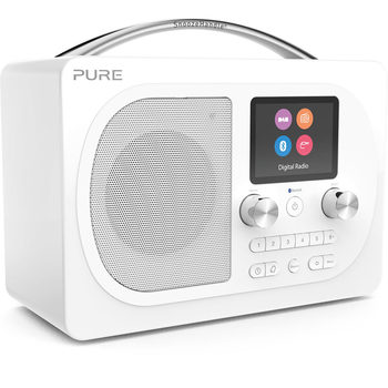 Pure Evoke H4 Prestige Edition Digital DAB+/FM Radio with Bluetooth in White