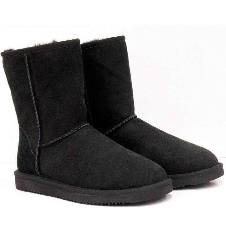 d23dad43b08 Kirkland Signature Short Shearling Sheepskin Boot in Black